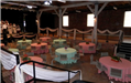 National Bean Market Pink and Teal Tablecloths
