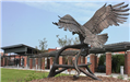 Village Green Eagle Statue