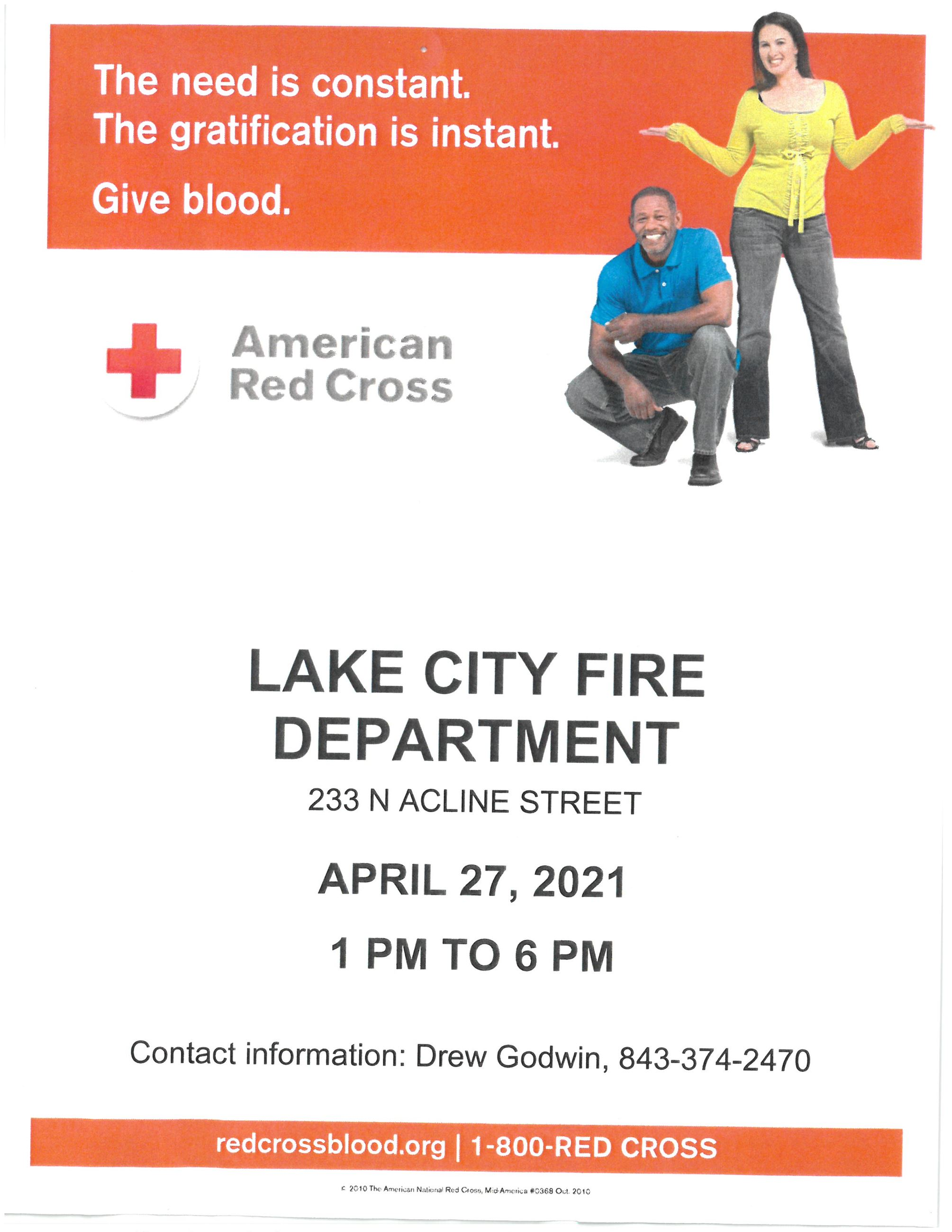 LCFD American Red Cross Blood Drive  4.27.21
